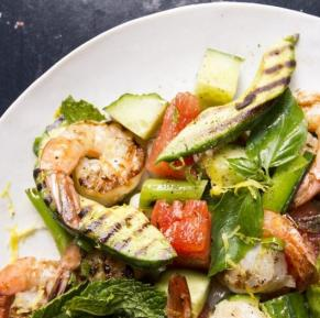 Barbecued Seafood Watermelon Salad
