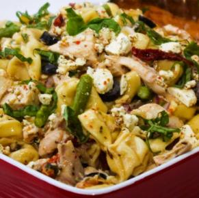Special greek tortellini salad