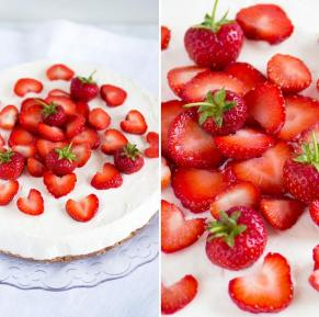 Yogurt Cheesecake with Strawberry