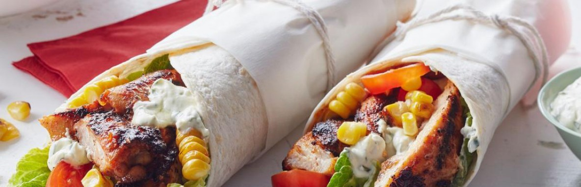 Chicken and Corn Wraps